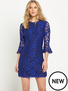 v-by-very-lace-fluted-sleeve-skater-dresses