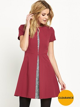 v-by-very-pleat-front-jaquard-insert-skater-dress