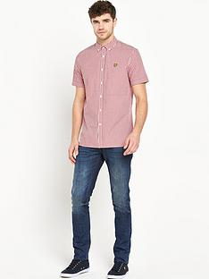 lyle-scott-short-sleeve-gingham-check-shirt