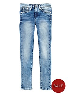 pepe-jeans-girls-skinny-mid-rise-jeans