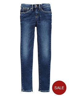 pepe-jeans-girls-skinny-mid-rise-jean