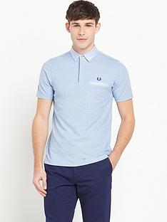 fred-perry-woven-trim-polo-top