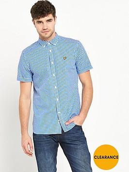 lyle-scott-short-sleeve-gingham-check-shirt