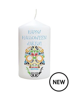 personalised-halloween-day-of-the-dead-candle