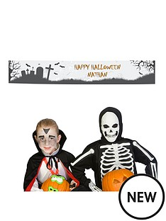 personalised-halloween-graveyard-party-banner