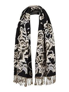 warehouse-floral-jacquard-scarf