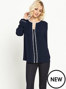 warehouse-warehouse-contrast-trim-blouse