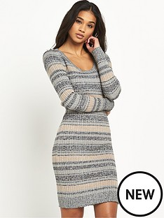 miss-selfridge-stripe-scoop-neck-ss-dressnbsp