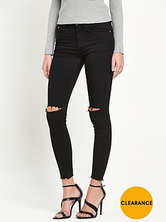 glamorous-ripped-knee-skinny-jeans