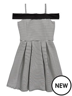 v-by-very-girls-bonded-stripe-bardot-dress