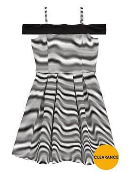 v-by-very-girls-stripe-bardot-dress