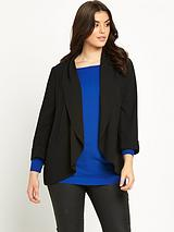 CREPE DRAPED BLAZER