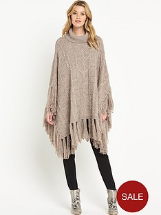 v-by-very-cable-tassle-cowl-poncho