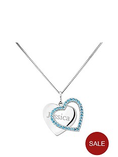 keepsafe-personalised-sterling-silver-blue-cubic-zirconia-heart-pendant