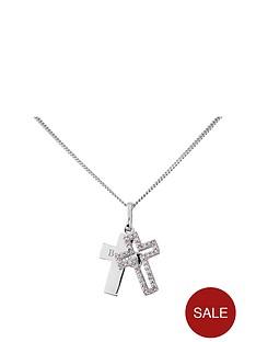 keepsafe-keepsafe-personalised-sterling-silver-white-cubic-zirconia-cross-pendant