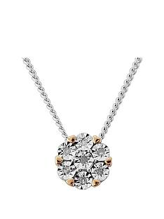 diamond-chic-sterling-silver-and-9ct-rose-gold-7-point-diamond-pendant