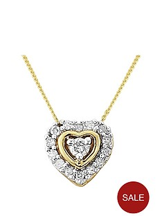 diamond-chic-sterling-silver-with-gold-highlights-11-point-diamond-heart-pendant
