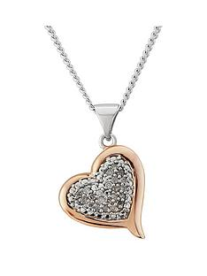 diamond-chic-rose-gold-plated-sterling-silver-10-point-diamond-heart-pendant