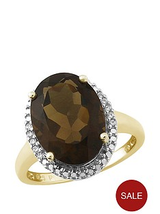 love-cocktails-smokey-havana-gold-platinum-plated-sterling-silver-smoky-quartz-and-cubic-zirconia-oval-cocktail-ring