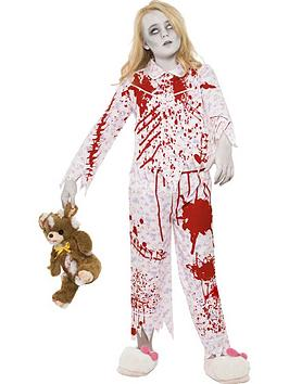 zombie-pyjama-girl-costume-pink-with-top-and-trousers