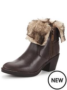 firetrap-firetrap-shine-leather-faux-fur-trim-ankle-boot