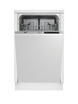 Beko Dis15010 Slimline 10Place Integrated Dishwasher With 5 Programmes And Optional Connection  Dishwasher Only