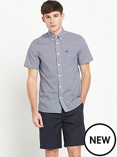 fred-perry-short-sleeved-gingham-shirt