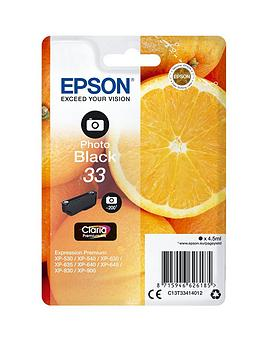 Epson 33 Claria Ink Cartridge Oranges Photo Premium Ink  Black