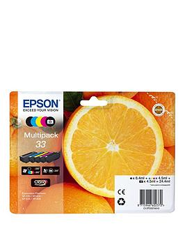 Epson 33 Claria Multipack Ink Oranges Premium Black Photo Black Cyan Magenta Yellow Premium Ink