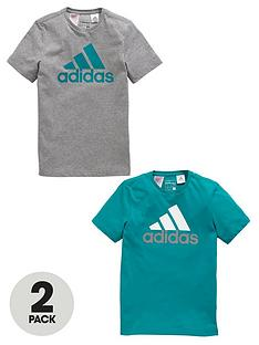 adidas-adidas-older-boys-pk-of-two-ess-logo-tees