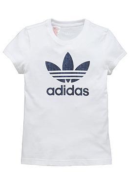 adidas-originals-older-girls-denim-trefoil-logo-tee