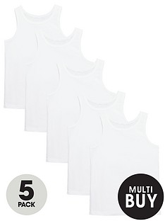 v-by-very-boys-white-vests-5-pack