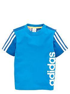 adidas-adidas-younger-boys-ess-3-stripe-topshorts-set