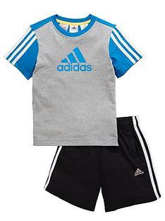 adidas-adidas-younger-boys-ess-logo-topshorts-set