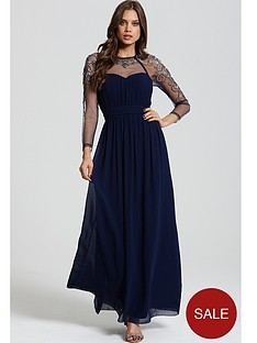 little-mistress-little-mistress-navy-ls-embellished-maxi-dress