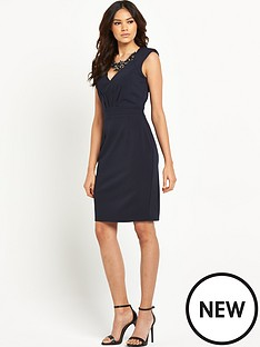 little-mistress-little-mistress-navy-embellished-wiggle-dress