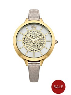 little-mistress-little-mistress-mother-of-pearl-stone-set-dial-nude-pu-strap-ladies-watch