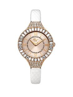 little-mistress-little-mistress-rose-gold-tone-dial-stone-set-bezel-white-pu-strap-ladies-watch
