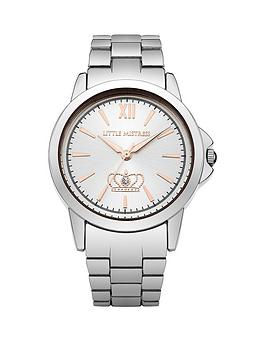 little-mistress-little-mistress-white-sunray-dial-silver-tone-metal-bracelet-ladies-watch