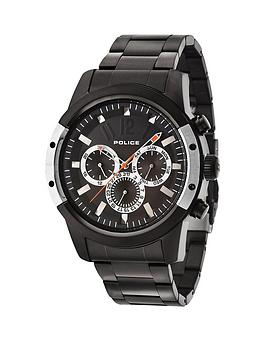 police-scrambler-chronograph-black-dial-black-stainless-steel-bracelet-mens-watch