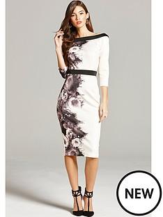 little-mistress-printed-bodycon-dress