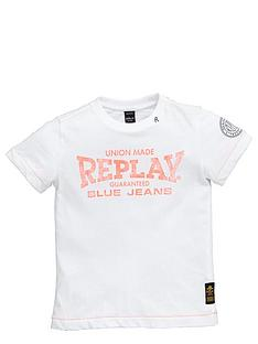 replay-girls-jersey-t-shirt-replay-logo