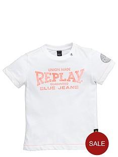 replay-girls-jersey-t-shirt-replay-logo