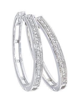 love-diamond-sterling-silver-9-point-diamond-creole-earrings