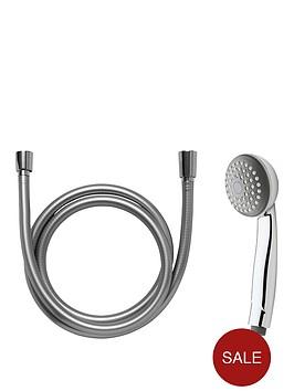 aqualux-classic-beguine-1-function-shower-head-hose-and-bracket-set