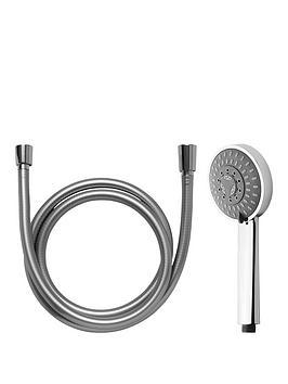 aqualux-design-salsa-105mmnbspshower-handset-hose-and-wall-bracket-kit