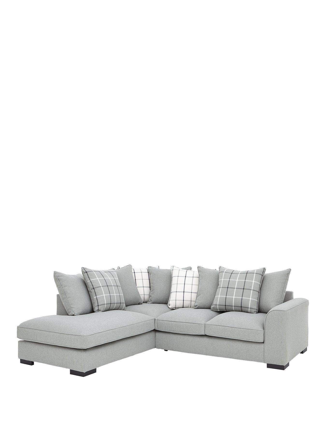 ideal home croft lefthand fabric corner chaise sofa