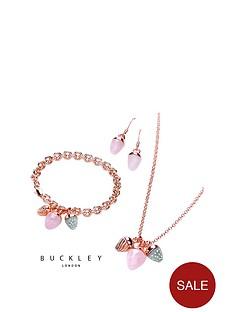 buckley-london-rose-gold-plated-semi-precious-ampnbspcrystal-set-charm-pendant-earring-ampnbspbracelet-set