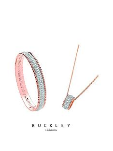 buckley-london-rose-gold-plated-crystal-set-pendant-amp-bangle-set
