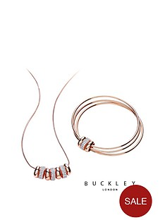 buckley-london-rose-gold-plated-sleek-crystal-set-circle-necklace-ampnbspbangle-set